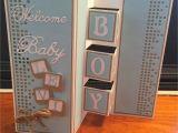 Handmade Card for A Newborn Baby Boy Baby Boy Card Com Imagens Convite Carta