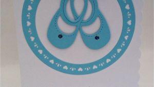 Handmade Card for A Newborn Baby Boy Newborn Baby Boy Card Design Includes Blue Baby Shoes Blue