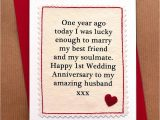 Handmade Card for Husband On Anniversary Handmade First Anniversary Card by Jenny Arnott Cards