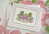 Handmade Card for New Job Frog Tea Party Greeting Card Frog Tea Cards Handmade