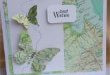 Handmade Card for New Job Multi Purpose butterfly Map Card for Anyone who S Moving