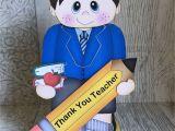 Handmade Card for Teacher Appreciation Pop Up Gift Card for Teachers 3d Handmade Card Greeting