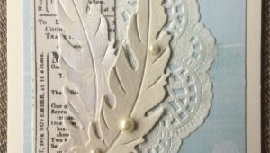 Handmade Card Gallery Using Dies Sympathy Feather Card This is My Take On A Beautiful Card