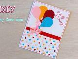Handmade Card Ideas for Birthday Diy Beautiful Handmade Birthday Card Quick Birthday Card