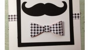 Handmade Card Ideas for Father S Day Father S Day Card Using Stampin Up Mustache and Bow Punch