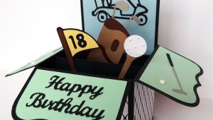 Handmade Card In A Box Card In A Box for A Golfer Boxed Birthday Cards Cards