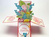 Handmade Card In A Box Flower Pop Up Box Card 3d Card Pop Up Box Cards Cards