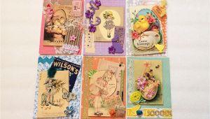 Handmade Card Kits for Sale Vintage Card Kit Happy Easter theme Vintage Ephemera