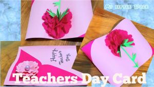 Handmade Card Making Ideas for Teachers Day Diy Beautiful Teacher S Day Card In 2020 Teachers Day Card
