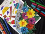 Handmade Card Making Ideas for Teachers Day Diy Teachers Day Greeting Card How to Make Teachers Day Card at Home