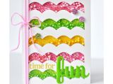 Handmade Card with Foaming Sheet Foam Front Die Waves Card Kit Shaker Cards Mason Jar Cards