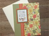Handmade Card with Foaming Sheet Handmade Card Using Patterned Paper and Twine Patterned