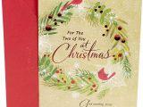 Handmade Greeting Card Designs for Rakhi Dayspring Religiose Romantische Weihnachtskarte Herzkranz