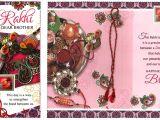Handmade Greeting Card Designs for Rakhi Pack Of 5 X Rakhi Cards Raksha Bandhan Rakhi Greeting Cards