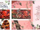 Handmade Greeting Card for Raksha Bandhan Pack Of 5 X Rakhi Cards Raksha Bandhan Rakhi Greeting Cards