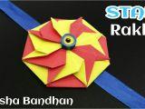 Handmade Greeting Card for Raksha Bandhan Star Flower Rakhi for Raksha Bandhan Design 20 A A A A