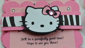 Handmade Hello Kitty Birthday Card Hello Kitty Birthday Party Invitations with Images Hello