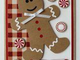 Handmade New Year Card Designs Handmade Gingerbread Man Christmas A2 Card Christmas