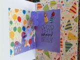 Handmade Pop Up Birthday Card Balloon Pop Up Bday Card Balloon Pop Cards