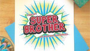Handmade Rakhi Card for Brother Raksha Bandhan Card for Brother Rakhi Greeting Indian