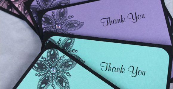 Handmade Thank You Card Designs Handmade Thank You Cards by Craftedbylizc Handmade Thank