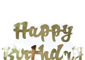 Happy Birthday Banner Card Factory Gold Script Happy Birthday Banner