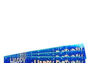 Happy Birthday Banner Card Factory Holographic Happy Birthday Blue Foil Banners Pack Of 3