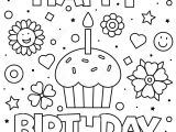 Happy Birthday Card Coloring Pages Coloring Page Vector Illustration Stock Vector