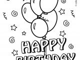 Happy Birthday Card Coloring Pages Printable Coloring Pages for A Birthday Coloring Home