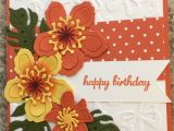 Happy Birthday Card Design Drawing orange Dsp 1 5 Draw Lines On Leaves Sponge Color On