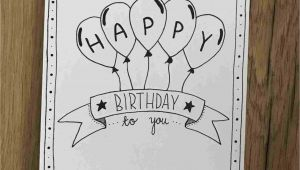 Happy Birthday Card Easy and Simple How to Draw A Happy Birthday Card Inspiration In