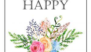 Happy Birthday Card Flower Design Happy Birthday Free Printable Gift Tags Birthday Gift Tags