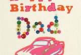Happy Birthday Card for Father Happy Birthday Dad Card by buttongirl Designs