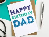 Happy Birthday Card for Father Happy Birthday Dad Colourful Greetings Card by Do You