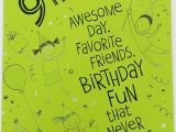 Happy Birthday Card for Friend Happy 9th Birthday Greeting Card Enjoy the Fun and Have A