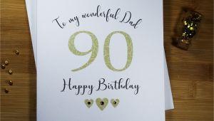 Happy Birthday Card for Uncle Wonderful Dad Card Happy Birthday Card 90th Birthday
