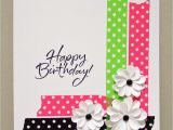 Happy Birthday Card Handmade Ideas Bold Dot Tape Card Paper Cards Simple Cards Greeting