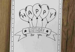Happy Birthday Card Handmade Ideas How to Draw A Happy Birthday Card Inspiration In