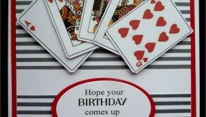 Happy Birthday Card Name Edit S459 Hand Made Birthday Card Using Playing Card Images