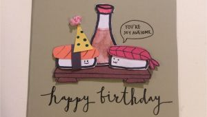 Happy Birthday Card Near Me Sushi Birthday Diy Card Geburtstagskarte Diy Gutschein