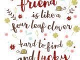 Happy Birthday Card to Best Friend Best Friend Like Four Leaf Clover Birthday Card