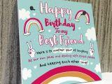 Happy Birthday Card to Best Friend Bestfriend Sign Friendship Gift Funny Birthday Card Novelty Gift