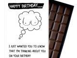 Happy Birthday Card to Boyfriend Funny Birthday Gift for Men Boyfriend Husband Rude Boxed Chocolate Greeting Card Present Od126