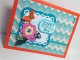 Happy Birthday Card to Mom Mother Birthday Card Happy Birthday Mom orange and Aqua