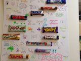 Happy Birthday Card Using Candy Bars Chocolate Bar Names In Sentences Chocolate Bar Names