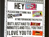 Happy Birthday Card Using Candy Bars Four Printable Candy Posters Candy Poster Candy Cards