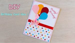 Happy Birthday Card Very Easy and Beautiful Diy Beautiful Handmade Birthday Card Quick Birthday Card
