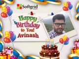 Happy Birthday Card with Name and Photo We are Delighted to Wish You A Happy Birthday Avinash