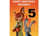 Happy Birthday Card with Name and Photo Zootopia Birthday Card Zazzle Com Zootopia Birthday Card