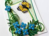 Happy Birthday Card with Quilling Paper Beautiful Handmade Greeting Card Mother S Day Card